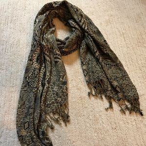 Accessories - PAISLEY SCARF WITH FRINGE